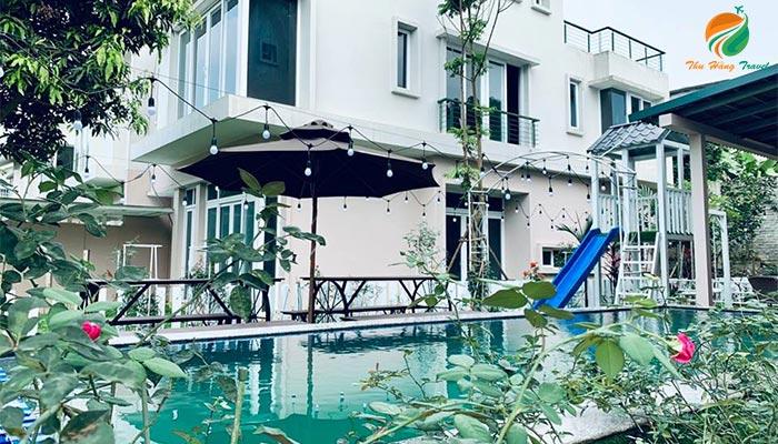 Khuôn viên căn An 8 Xanh Villas
