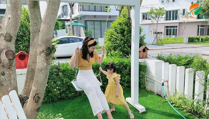 Khuôn viên căn An 4 xanh villas hòa lạc