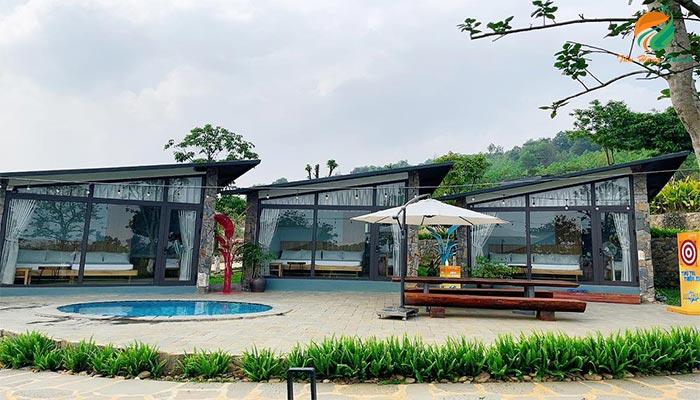 Khuôn viên cảnh quan ở Chill Villa