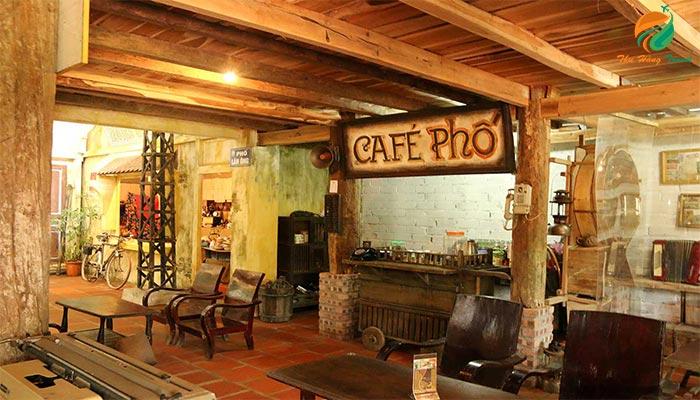 Khu Cafe phố cổ ở Long Việt - du lịch sinh thái ba vì