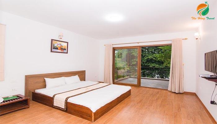 Phòng nghỉ ở Bella Resort căn villa có bể bơi ở Ba Vì
