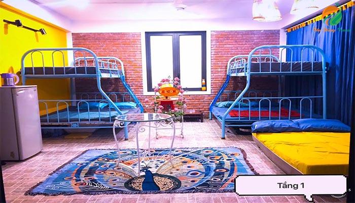 Phòng nghỉ ở khu Sunny Homestay