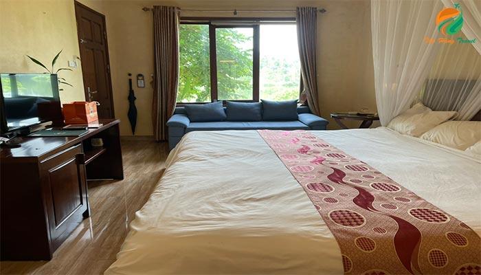 Phòng nghỉ tại khu du lịch Tản Đà Spa Resort