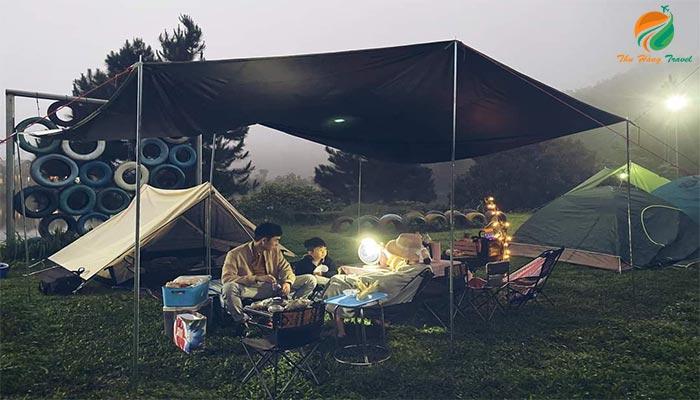 Cắm trại dã ngoại ở khu Thung Lũng Bản Xôi