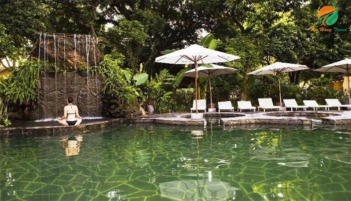 Bơi khoáng tại Tản Đà Spa Resort