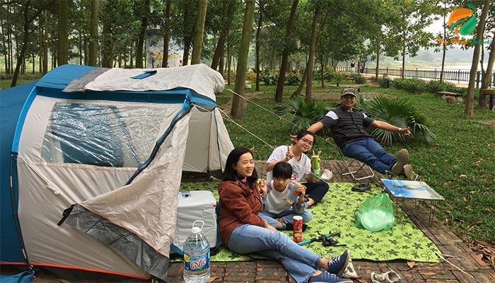 Cắm trại ở Làng văn hóa du lịch các dân tộc Việt Nam