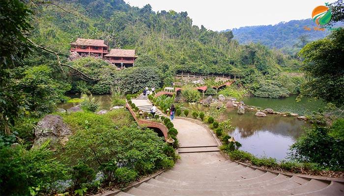 Khung cảnh ở khu du lịch sinh thái Medi Thiên Sơn