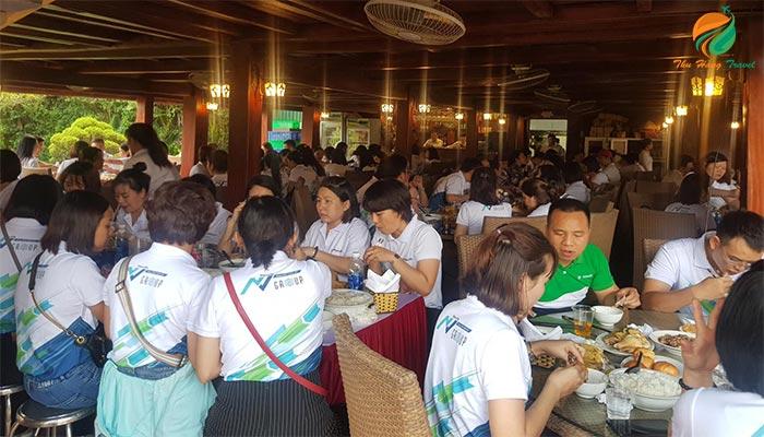 Không gian nhà hàng Xạ Hương - Top 5 nhà hàng Ba Vì