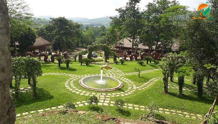 Khung cảnh ở Paragon Resort - khu gần resort 5 sao Ba Vì
