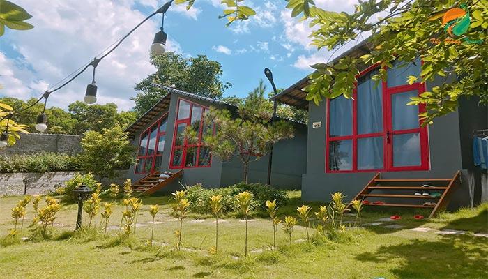 Khu homestay Embossi Garden mang kiến trúc độc đáo