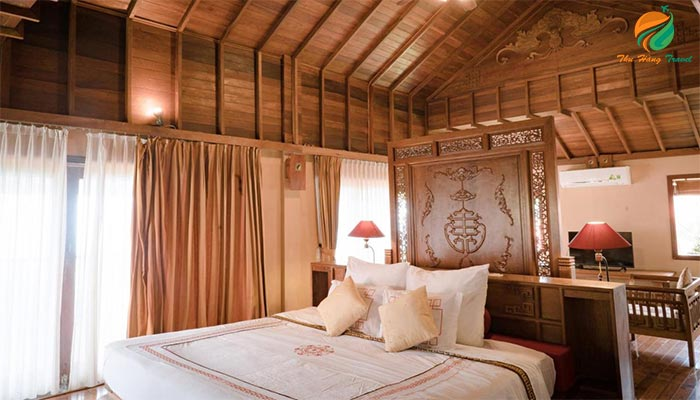 Phòng nghỉ ngơi tại khu resort gần Hà Nội