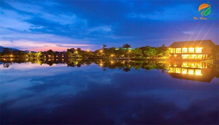 Vẻ đẹp Resort gần Hà Nội khi về đêm