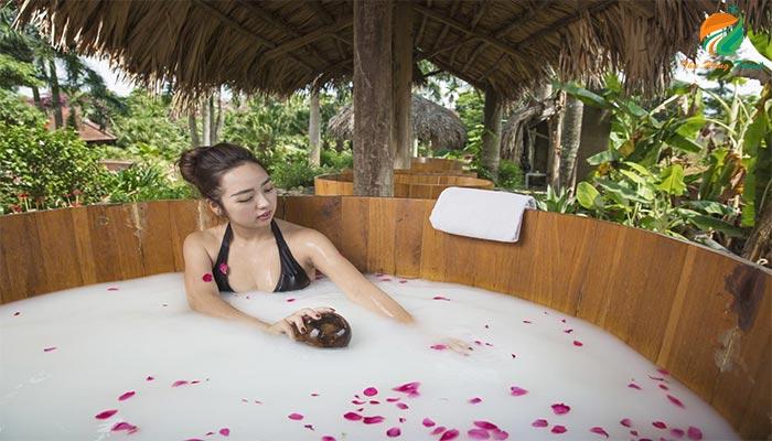 Tắm sữa tươi dịch vụ Spa không thể bỏ lỡ khi tới Asean Resort