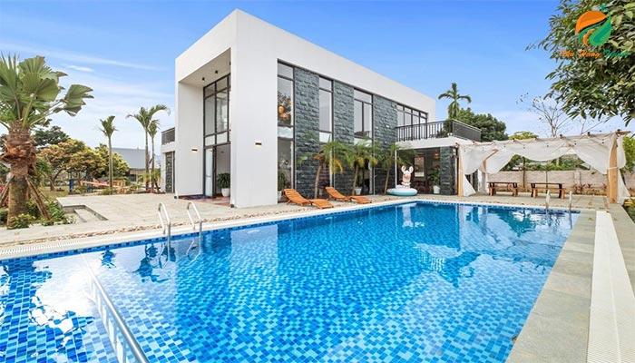 Villa cho thuê nguyên căn có hồ bơi ở Ba Vì